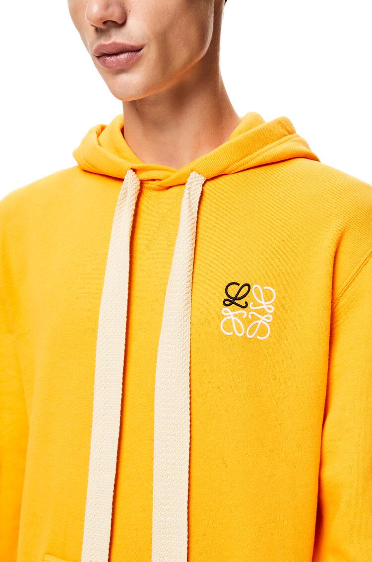 LOEWE Anagram embroidered hoodie in cotton Orange pdp_rd