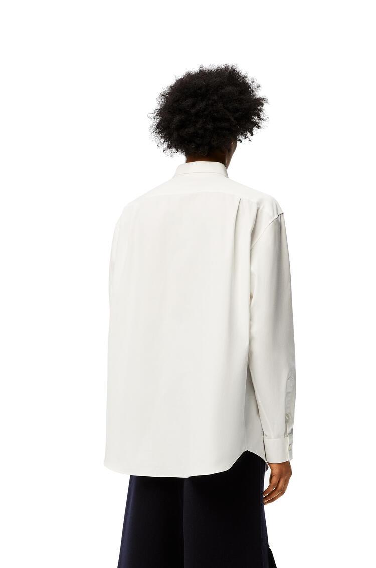 LOEWE 棉質 Anagram 刺繡寬鬆襯衫 白 pdp_rd