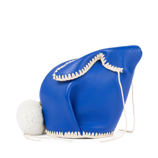 LOEWE Mini Bolso Conejo Macrame Azul Electrico/Blanco all