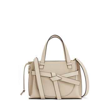 LOEWE Gate Top Handle Mini Light Oat front