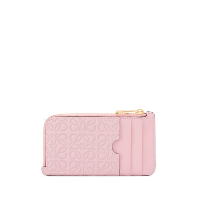 LOEWE Coin/Card Holder Soft Pink front