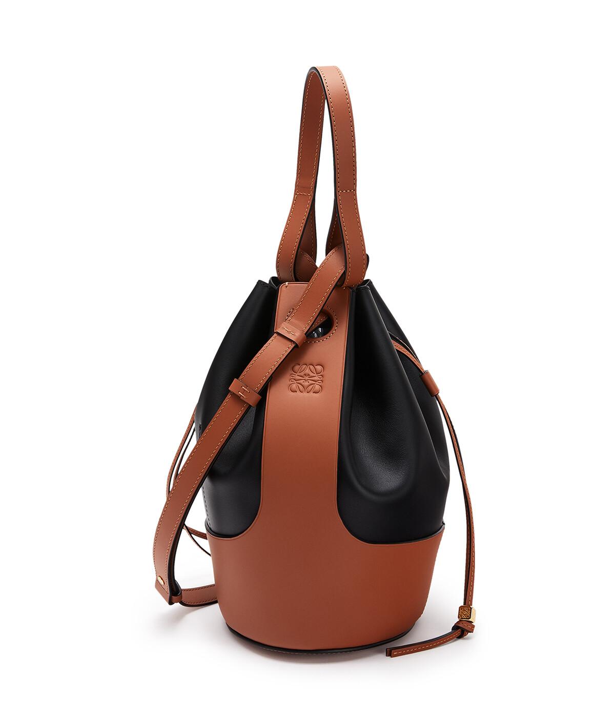 LOEWE Balloon Bag 黑色/棕褐色 front