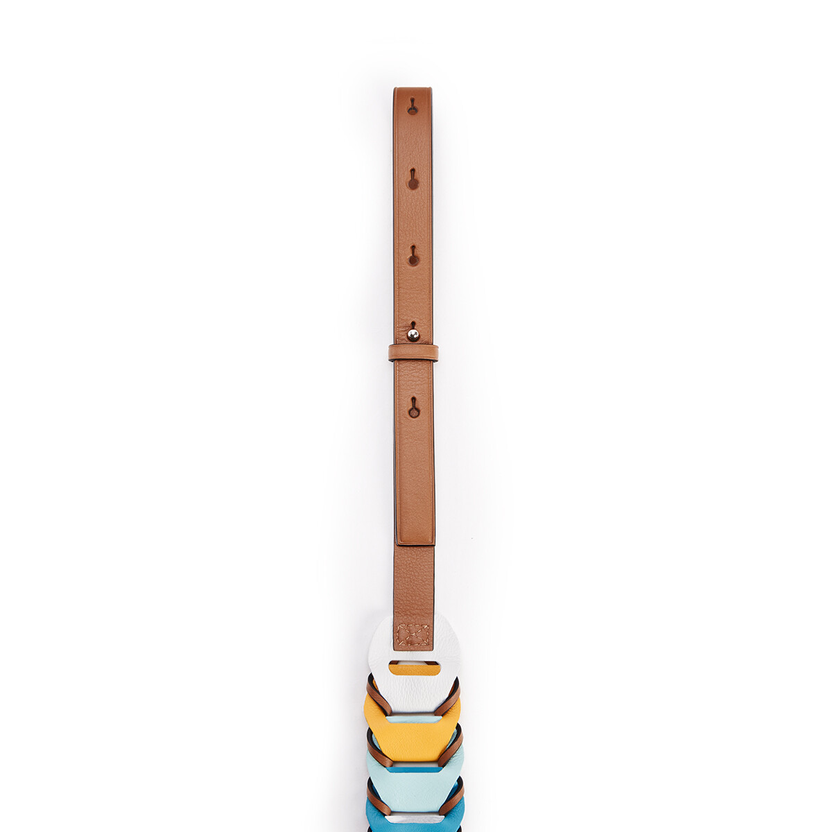 LOEWE Circles Loop Strap In Classic Calfskin Soft White/Dark Peacock Blue front