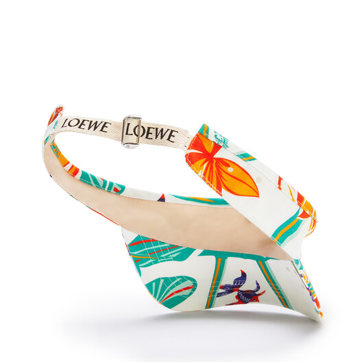 LOEWE Visor In Waterlily Canvas White front
