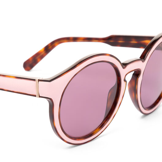 LOEWE Round Padded Sunglasses Pink/Pink front