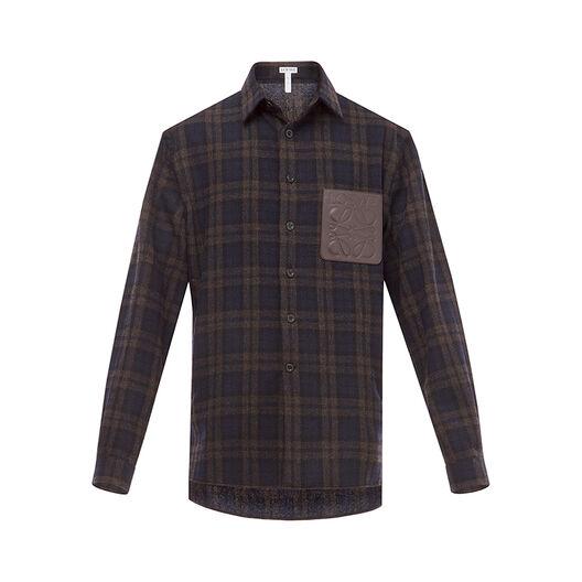 LOEWE Tartan Shirt Marino/Marron all