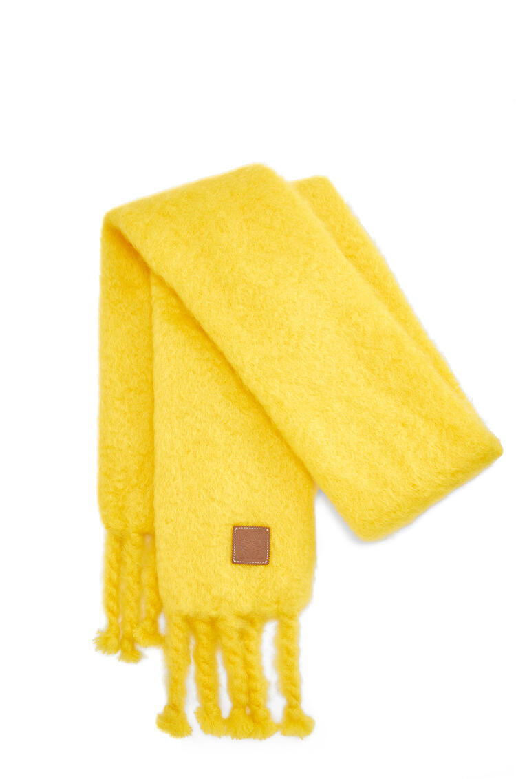 LOEWE Scarf in mohair Yellow pdp_rd