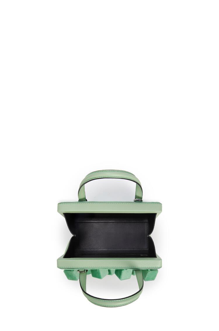 LOEWE ポスタル キューブ バッグ スモール(ベルベット&クラシック カーフスキン) グリーン pdp_rd