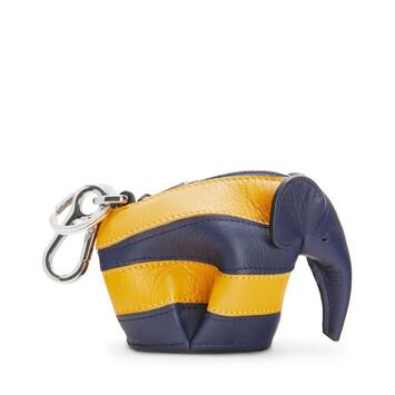 LOEWE Elephant Rugby  Charm Marine/Yellow Mango front