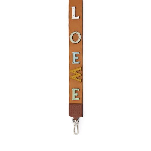 LOEWE Logo Strap Tan/Honey front