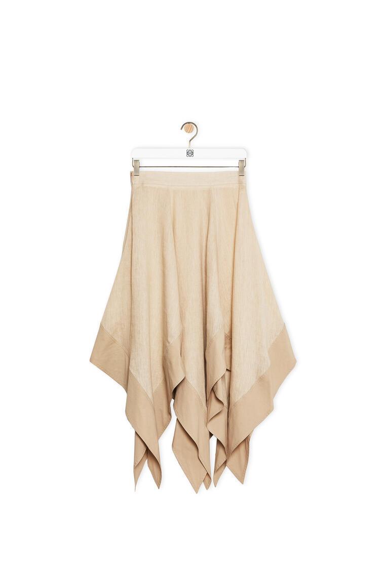 LOEWE Handkerchief Skirt In Linen Beige pdp_rd
