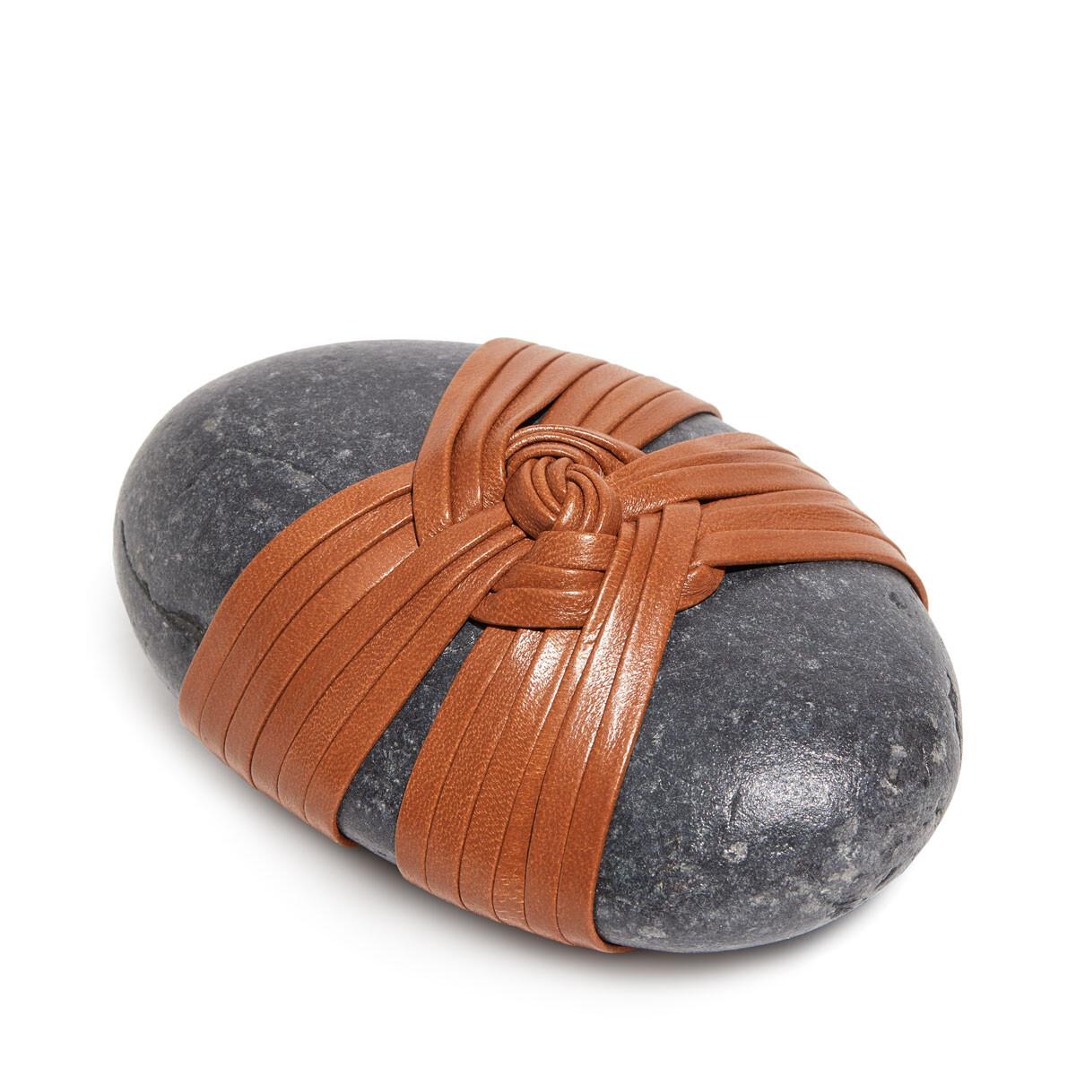LOEWE Kunoji Double Knot Stone Tan front