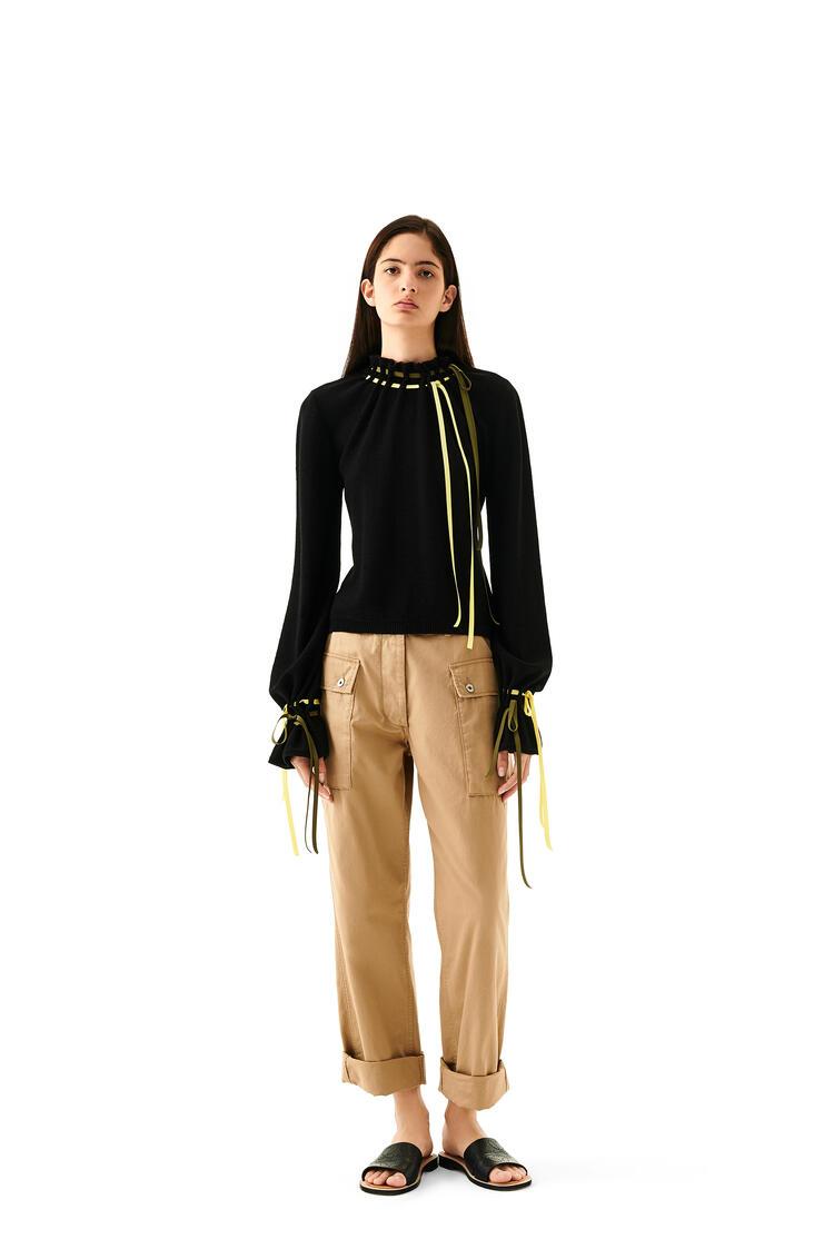 LOEWE Cargo Trousers In Cotton Beige pdp_rd