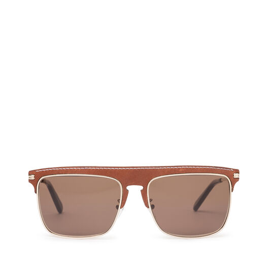 LOEWE スクエアサングラス brown/dark brown all