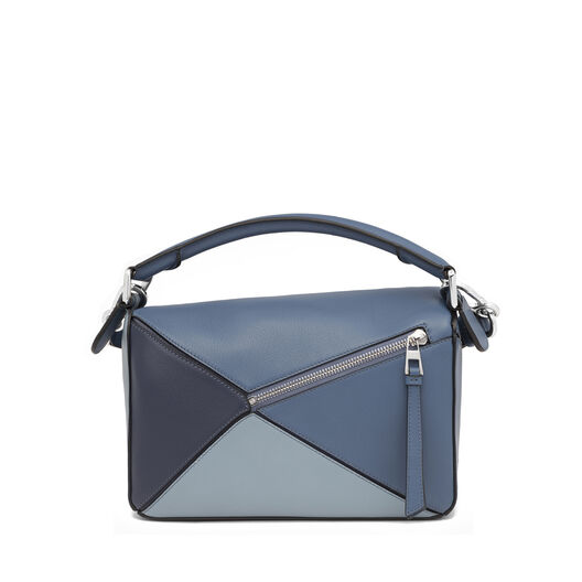LOEWE Puzzle Small Bag Varsity Blue Multitone front