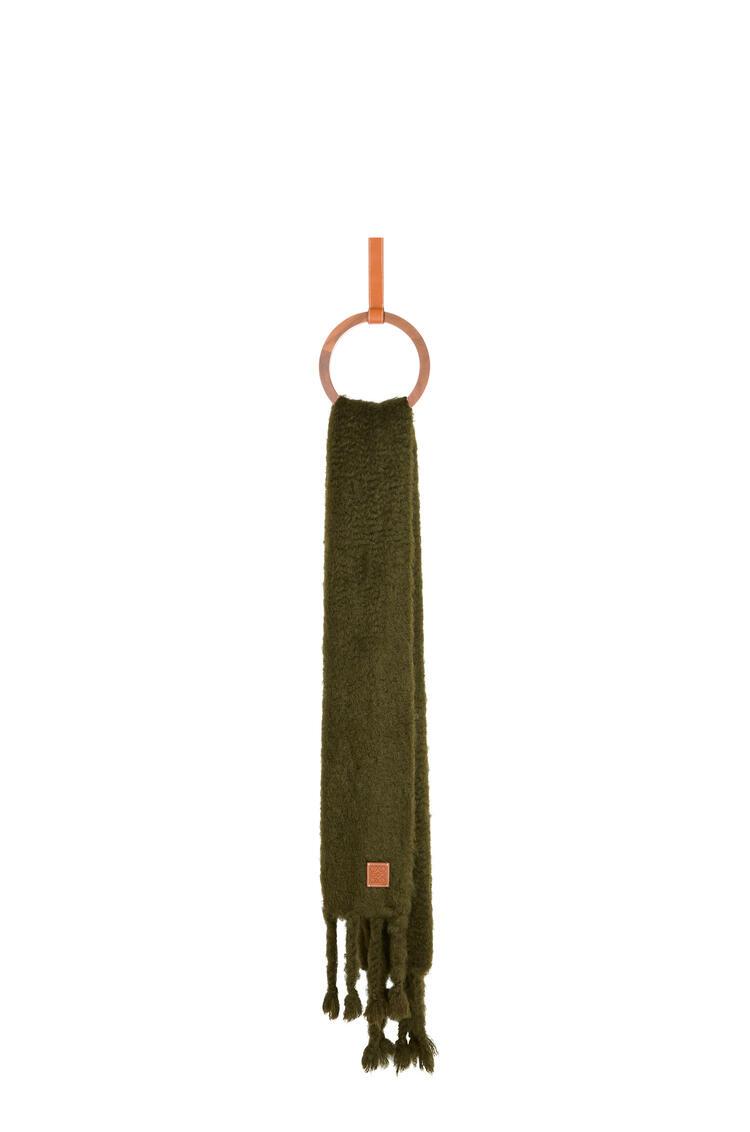 LOEWE 45 x 230 cm 马海毛围巾 Khaki Green pdp_rd