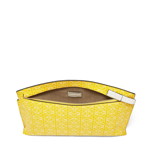 LOEWE T Pouch Repeat Yellow/White front