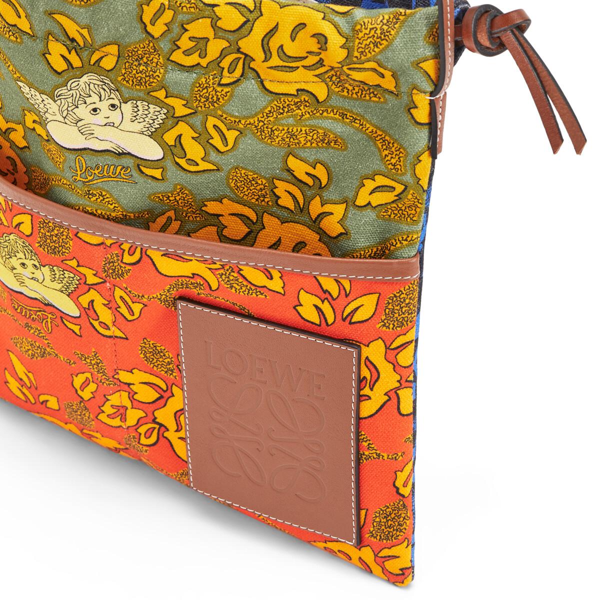 LOEWE Paula's Small Drawstring Pouch Orange/Green front