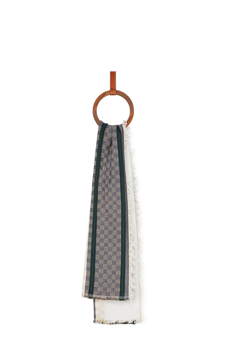 LOEWE Anagram scarf in cotton White/Pink pdp_rd