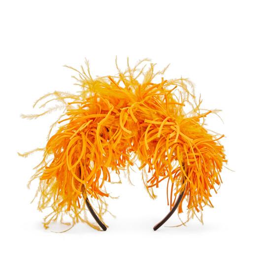 LOEWE Feathers Headband Yellow Mango front