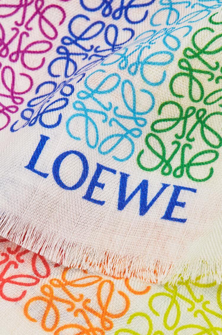 LOEWE 70 X 200 Cm Loewe Anagram Scarf In Wool And Cashemere White/Multicolor pdp_rd