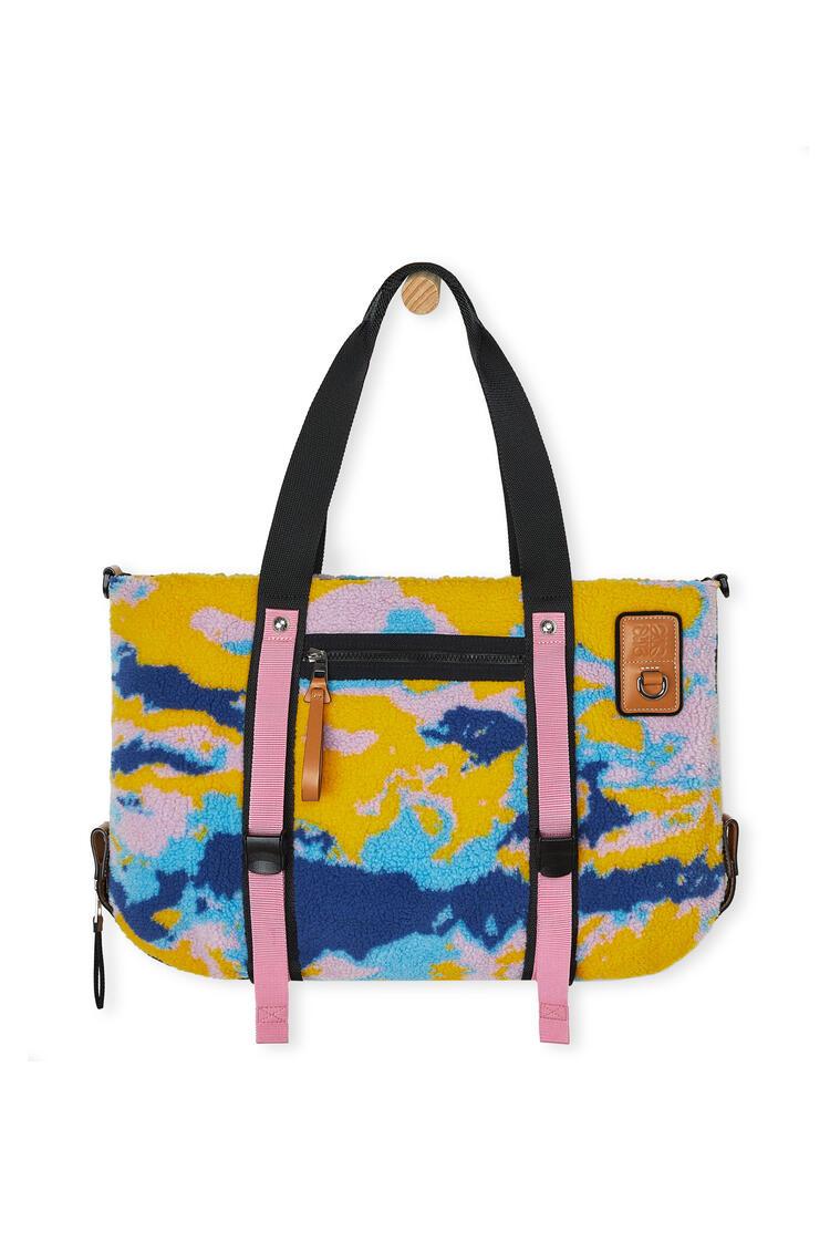LOEWE Tote Bag In Camo Fleece And Canvas 多色拼接 pdp_rd
