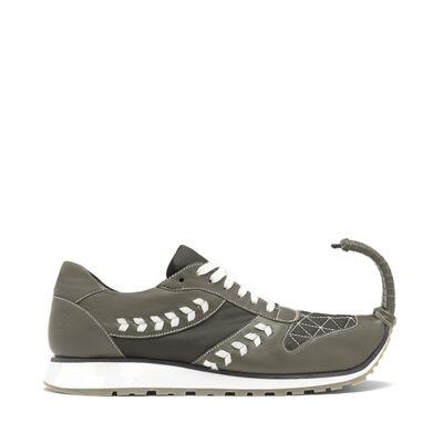 LOEWE Sneaker Dinosaur Khaki Green front