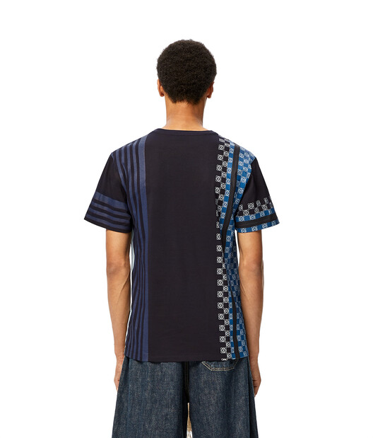 LOEWE Stripe Anagram T-Shirt Navy Blue/Multicolor front