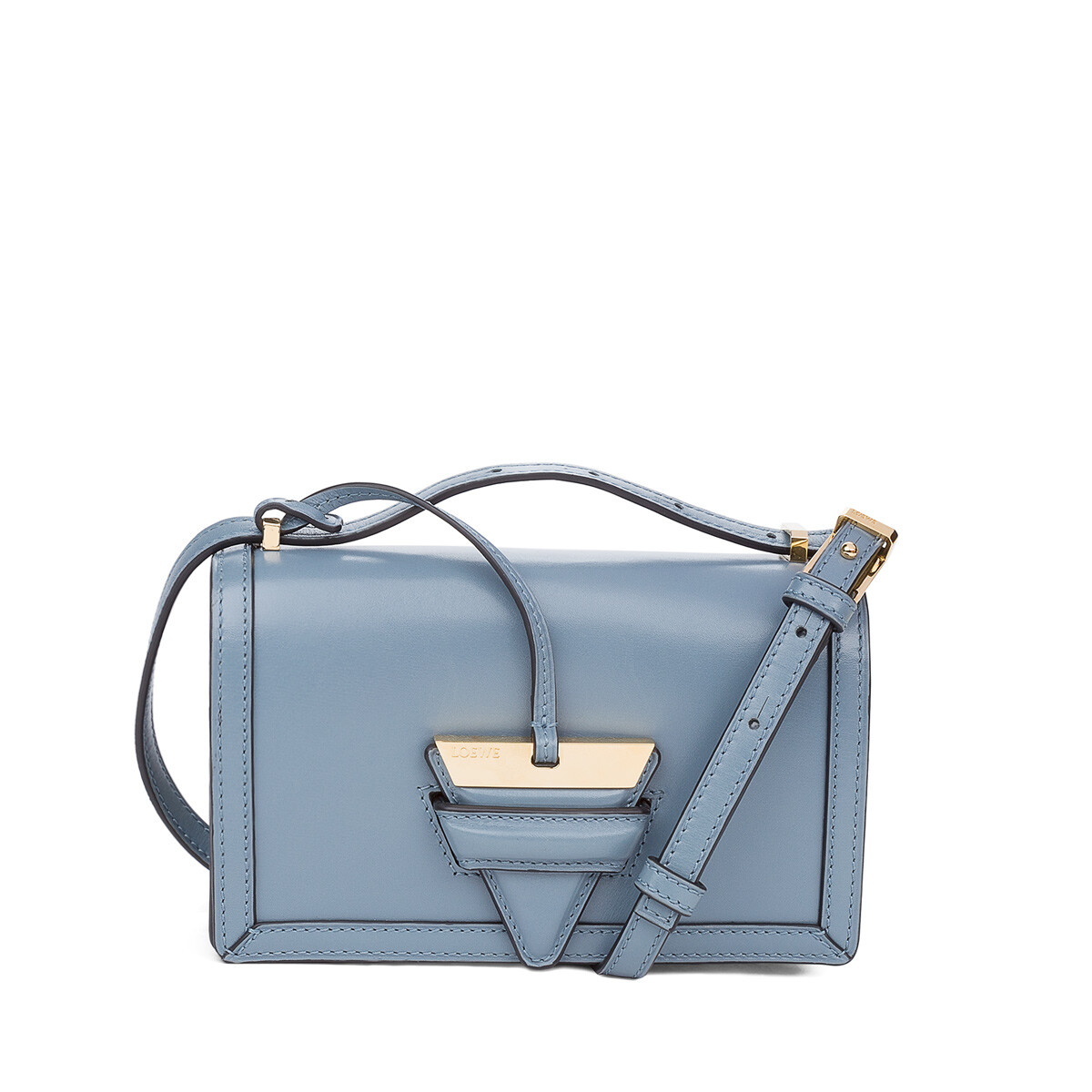 LOEWE Barcelona Small Bag Stone Blue front