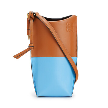 LOEWE Gate Pocket Bronceado/Azul Celeste front