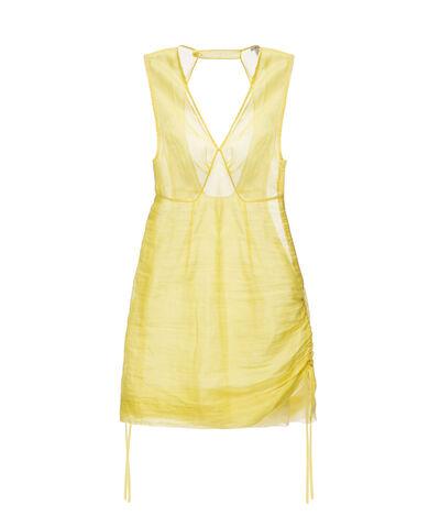 LOEWE Organdy Double Layer Minidress Yellow front