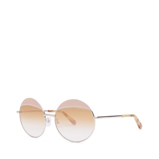 LOEWE Gafas Redondas Pespunte Rosa/Amarillo Degradado all