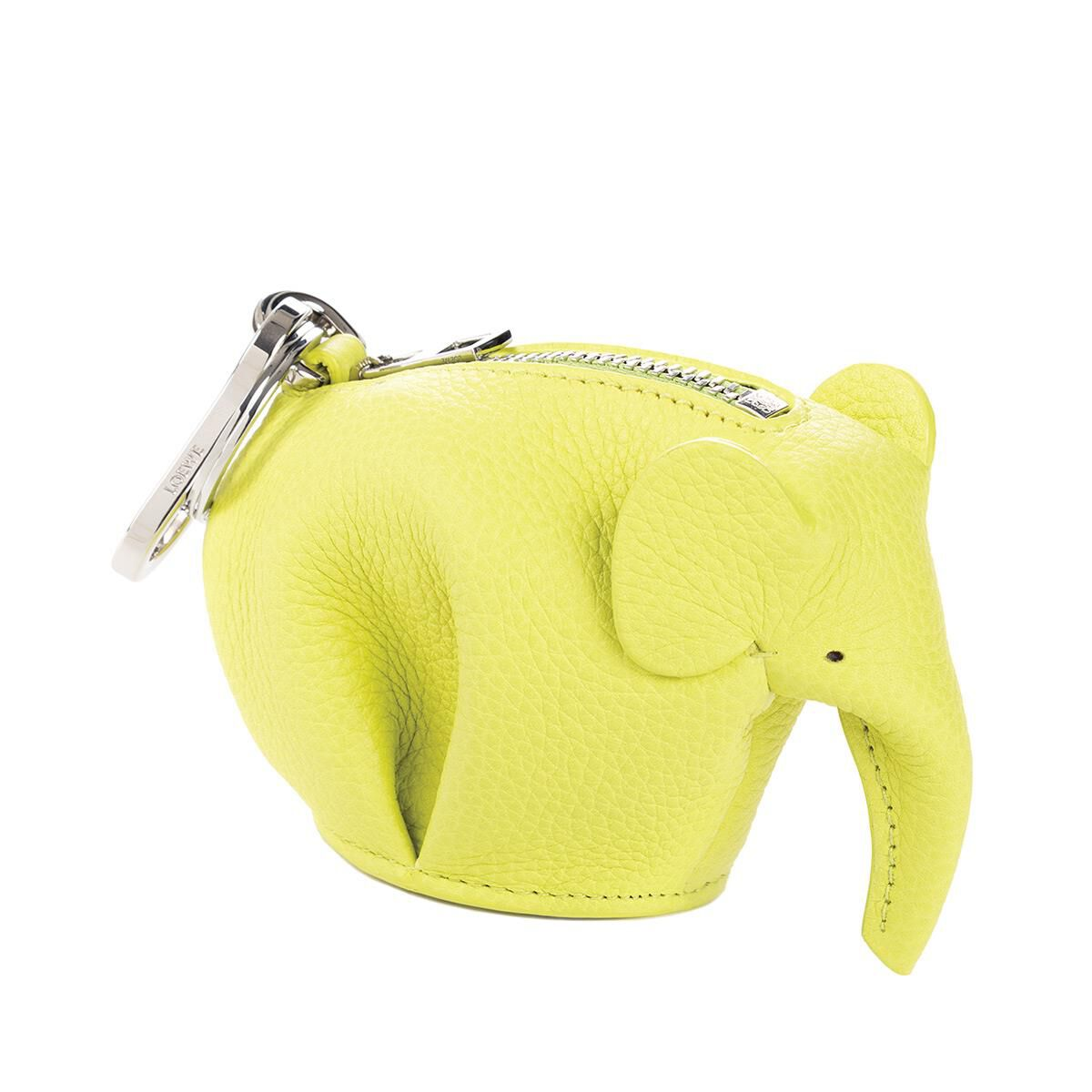 Loewe Mouse Charm Bag Accessory in Yellow Lemon Calfskin