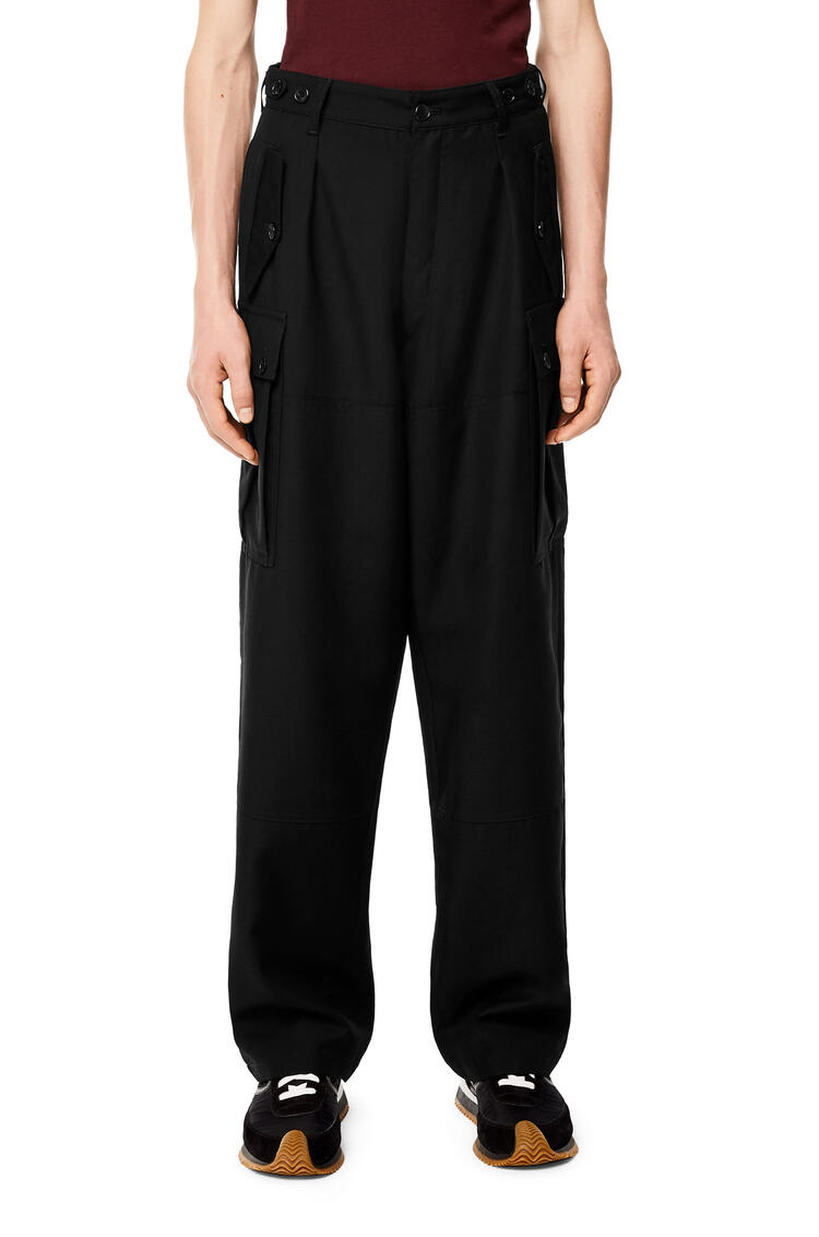 LOEWE Cargo pocket trousers in wool Black pdp_rd