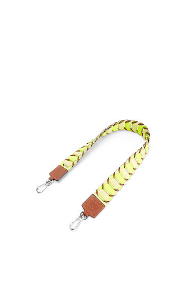 LOEWE Bandolera de círculos loop en piel de ternera clásica Amarillo Neon/Amarillo Claro pdp_rd