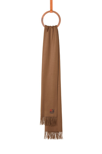 LOEWE 70X200 Anagram Scarf Camel front
