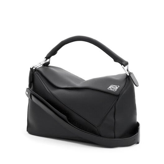 LOEWE Puzzle Bag 黑色 front