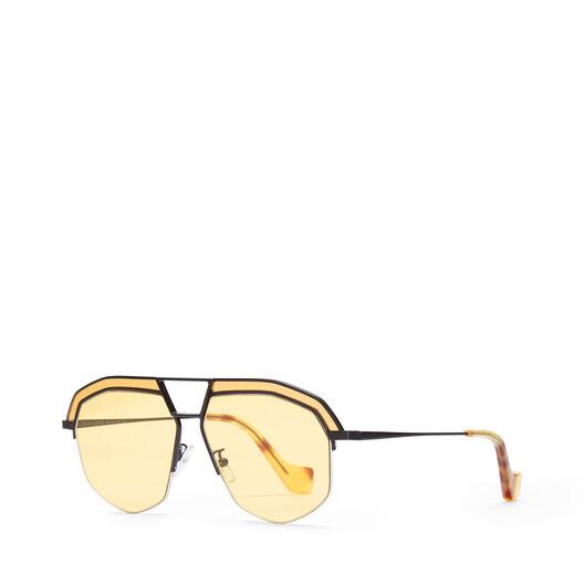 LOEWE Geometrical Sunglasses Matte Black/Yellow front