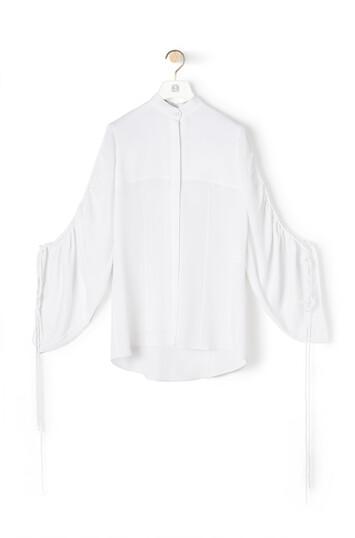 LOEWE Drawstring Sleeve Blouse White front