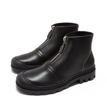 LOEWE ジップブーツ ブラック front