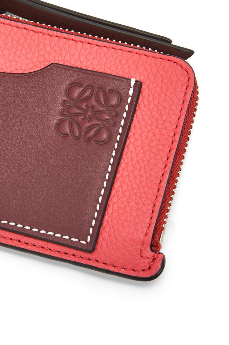 LOEWE 软粒面小牛皮硬币卡包 Poppy Pink pdp_rd