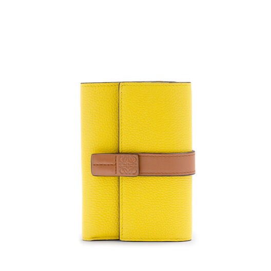 LOEWE Small Vertical Wallet Leaf/Yellow front