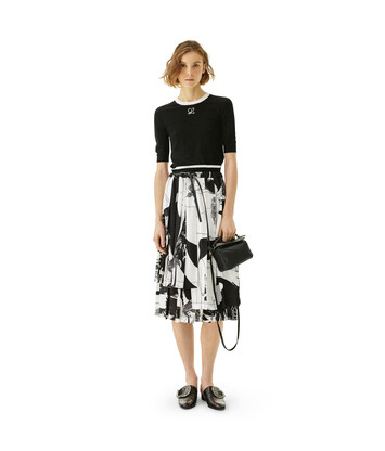LOEWE Salome Print Skirt Black/White front