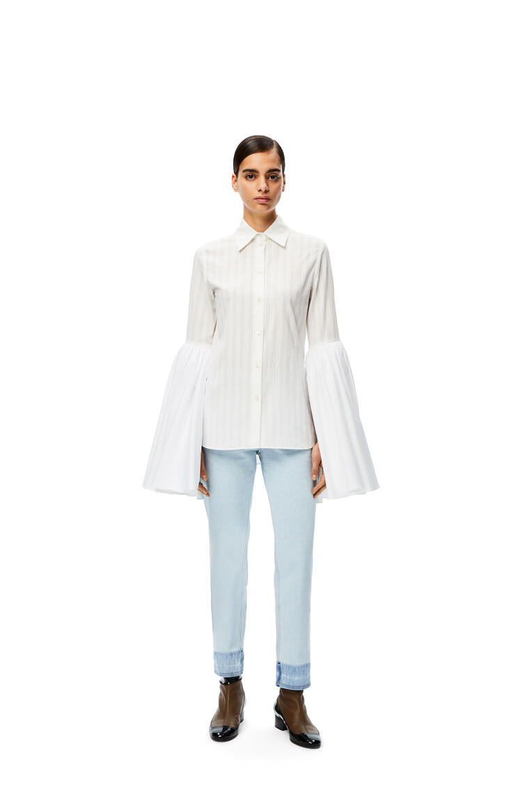 LOEWE Bell sleeve shirt in cotton White pdp_rd