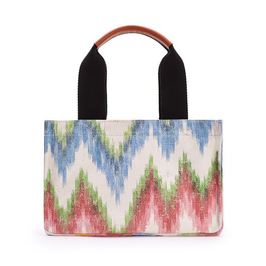 LOEWE Small Paula's Ikat Beach Cabas Bag In Ikat Textile Multicolor front