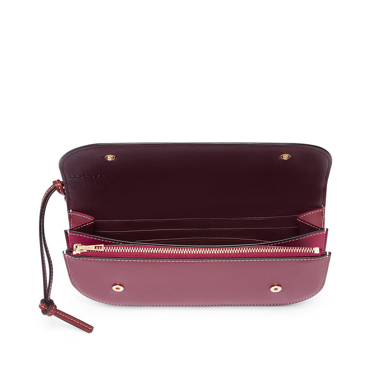 LOEWE Gate Pochette Raspberry/Wine all