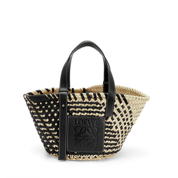 LOEWE Basket Bag Black/Natural front