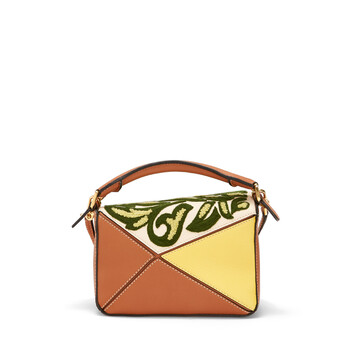 LOEWE Bolso Puzzle Floral Mini Amarillo front