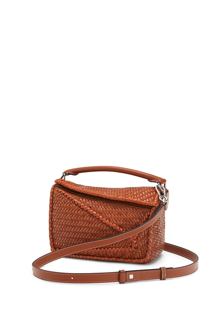 LOEWE Small Puzzle bag in buffalo and calfskin Tan pdp_rd