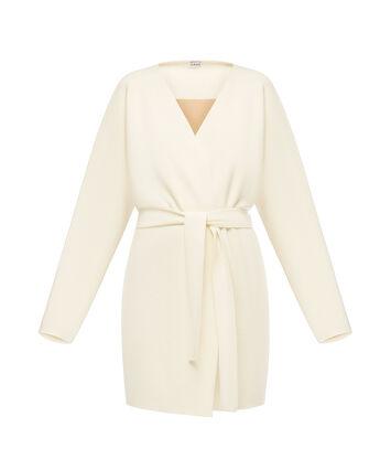 LOEWE Belted Knit Coat 淡褐色 front